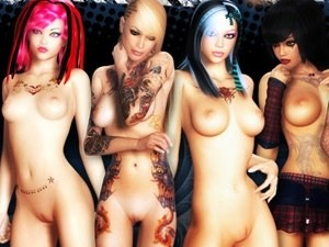 3D Bad Girls - immagini di nudo XXX