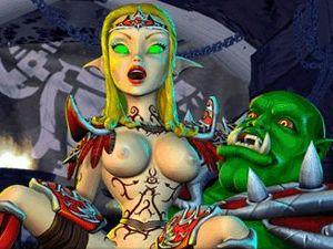 BoneCraft - porno Elf in XXX gioco di fantasia